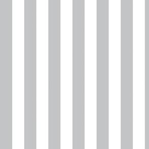 Grey & White Chunky Stripe