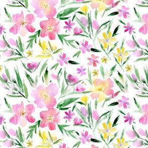 Watercolor royal garden ★ pretty painted florals for modern home decor, bedding, nursery