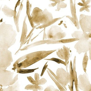 Earthy boho neutral royal garden - watercolor painted florals p268