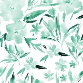 Mint royal garden - watercolor florals p268