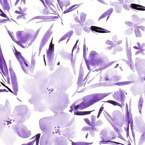 Amethyst royal garden - watercolor purple florals p268