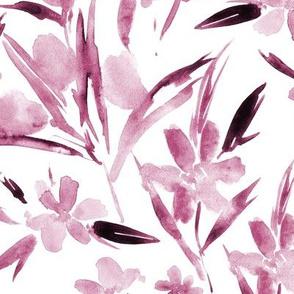 Burgundy royal garden ★ watercolor flowers for modern home decor, bedding, nursery