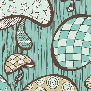 Wonderland Mushrooms - Blue