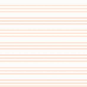Peach Bandy Stripe: Blushing Peach Horizontal Stripes