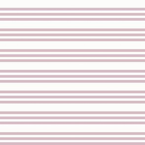Bandy Stripe: Mulberry & White Horizontal Stripes, Magenta Pink Thin Stripes
