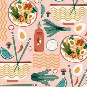 Pho Real - Ramen Noodle Food Regular Scale Pink