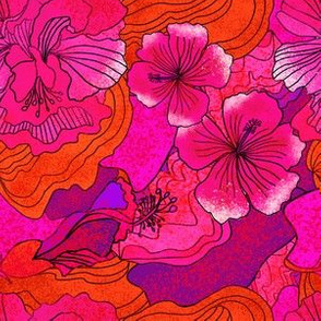 Vintage Splatter hibiscus