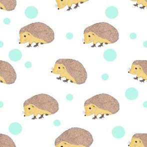 Little Hedgehog with blue dots
