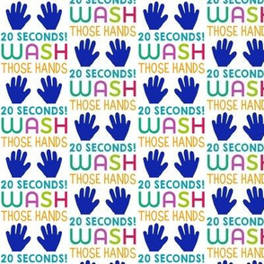 Wash your hands - hand washing reminder in bright colors - 20 seconds