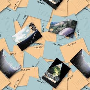 North Carolina Honeymoon Postcards Small Scale by Shari Lynn's Stitches