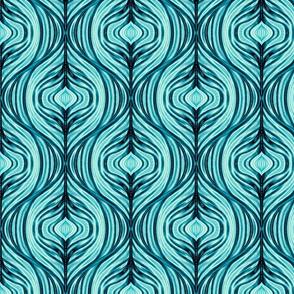 mid-century modern ice ogee - turquoise