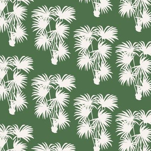 Palms Silhouette   Green
