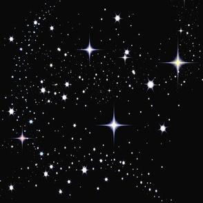 Galaxy Glitter Black