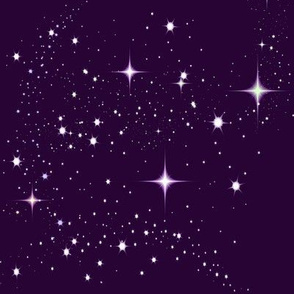 Galaxy Glitter Purple
