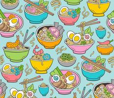 Noodles Ramen Food on Blue Large