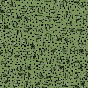 Computer Circuit Jellyfish Green Grass