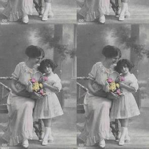 mother and child go retro
