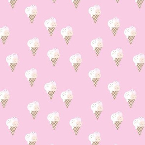 Little ice cream cone flavors and confetti disco dip summer snack kids pink