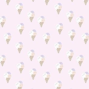 Little ice cream cone flavors and confetti disco dip summer snack kids pale pink lavender