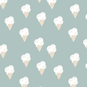 Little ice cream cone and confetti disco dip summer snack kids moody blue boys