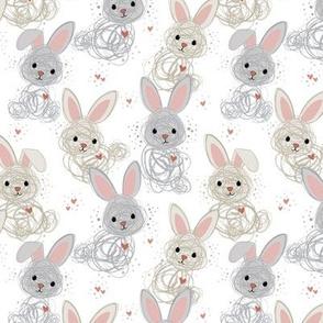 Baby Dust Bunny Line Art smaller scale © Jennifer Garrett