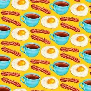 Coffee Bacon & Eggs - Yellow