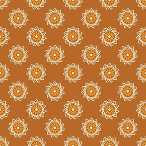 Basic mandala symbol | sandy brown