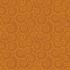 Basic spiral symbols | sandy brown