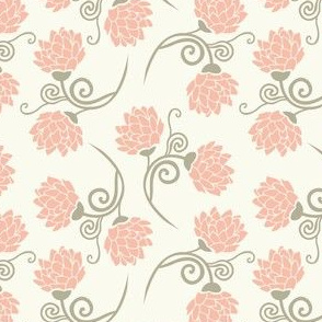 vintage roses | rose and pale green