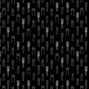 Capacitors - White on Black