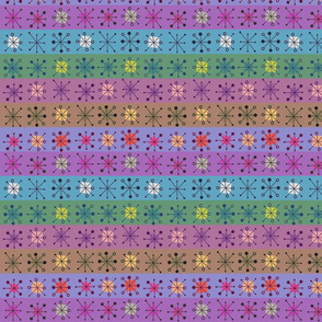 Atomic squares and stripes - jewel colours