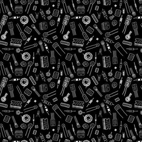 Circuit Components - White on Black