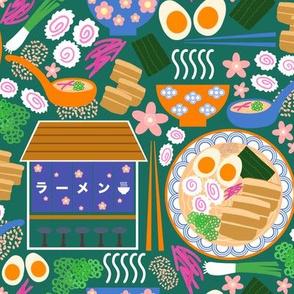 (S) Tokyo Ramen Shop - Small on Green - Japanese / Asian Food / Cuisine