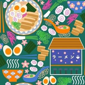 (M) Tokyo Ramen Shop - Medium on Green - Japanese / Asian Food / Cuisine
