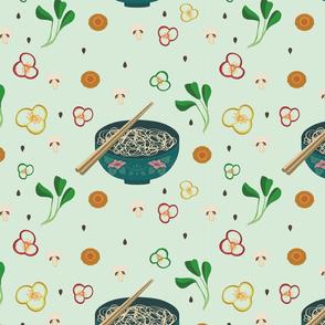 Noodle Bowl Floral
