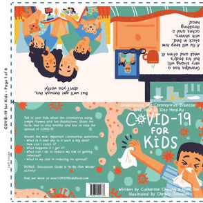 Set 1 Soft Book Covid-19 for Kids