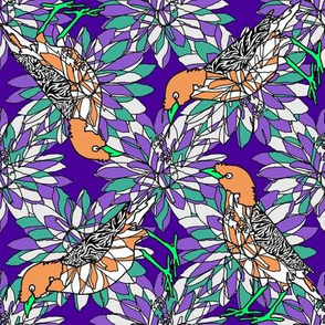 orange_mynah_bird_on_purple
