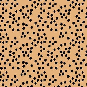 Teeny tiny little spots and dots irregular ink spot Scandinavian boho minimal animal print honey yellow black