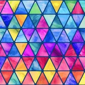 Little Rainbow Watercolor Triangles darker