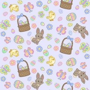 Hoppy Easter on Blue