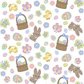 Hoppy Easter on White