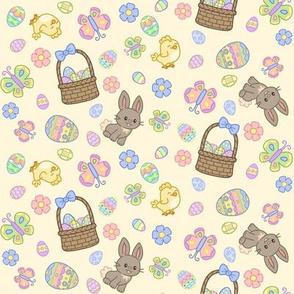 Hoppy Easter on Yellow