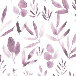 Blush urban jungle - watercolor leaves for modern home decor