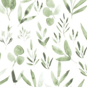 Urban jungle in artichoke green ★ pastel greenery leves for modern home decor, bedding, nursery