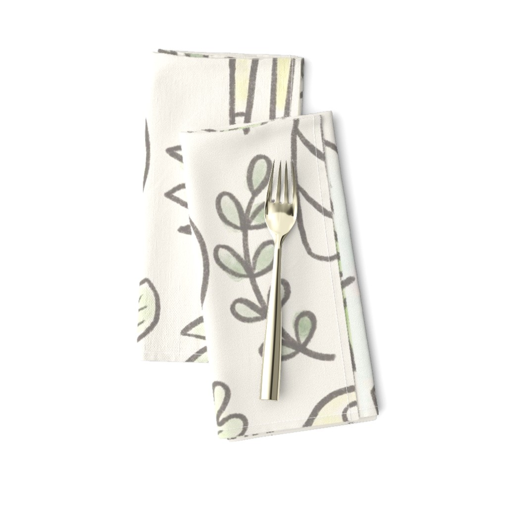 Amarela Dinner Napkins featuring Safari Fun by lisa_kubenez