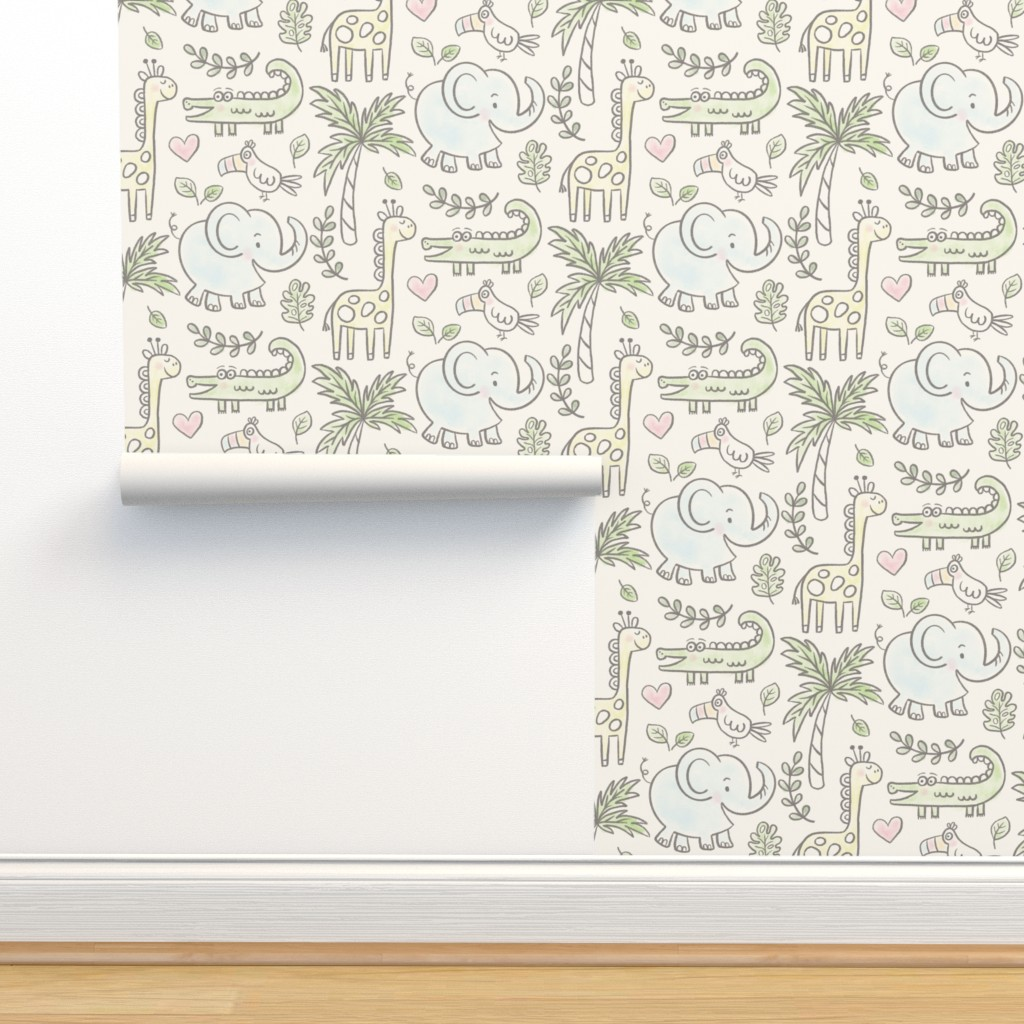 Isobar Durable Wallpaper featuring Safari Fun by lisa_kubenez