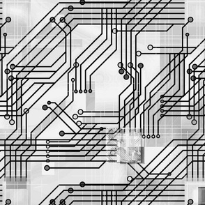 PCB in Black & Gray Circuit Board Computer Tech