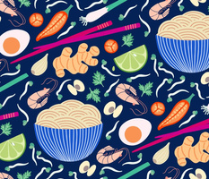 Spicy noodles by Pippa Shaw