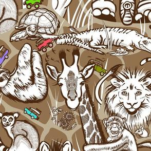 Line Art Safari Small | Brown