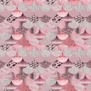 Fashionable Mermaid Pattern Blush Pink